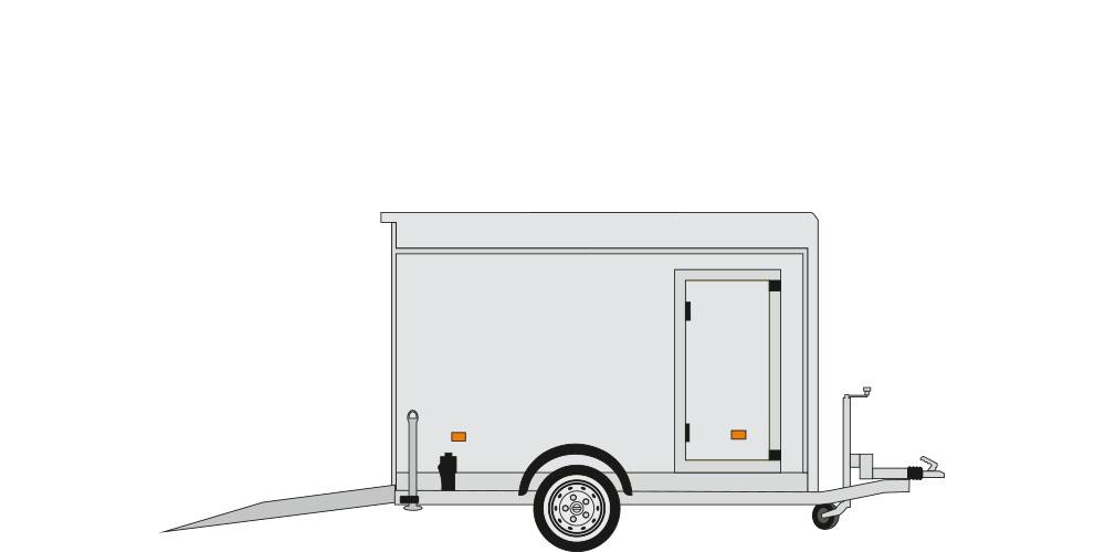 Patente B con rampa e porta laterale